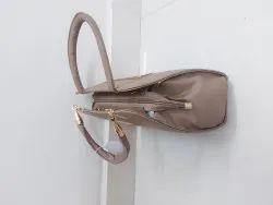 Black Pu Leather Women Hand Bag