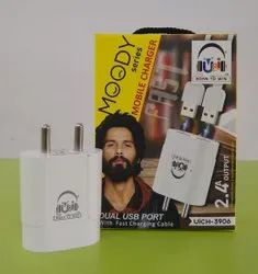 1mtr White U&i UiCH-3906 Moody Charger