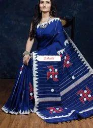 Handloom Applique Cotton Saree