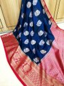 Banarasi Weaving Kora Silk Saree
