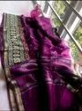 Silk Linen Floral Embroidery Work Sarees