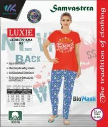 100 % Rich Cotton Printed Night Suit, Top & Lower