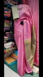 Pure Desi Tussar Silk Saree With Designer Border