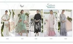Shree Fabs Lawn Sateen Maria B Party Wear Suits