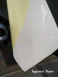 White Paper Mirror Coat Sticker Sheet