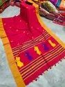 Khadi Cotton Hand Woven Saree