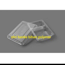 2 Compartment Food Tray With Lid
