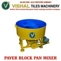 Mild Steel Paver Block Pan Mixer Machine