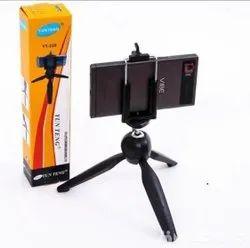 Black Metal Yt228 Camera Tripod With Mobile Mount