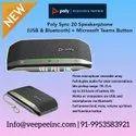 Poly Sync 20 SpeakerphoneUSB & Bluetooth Microsoft Teams Button