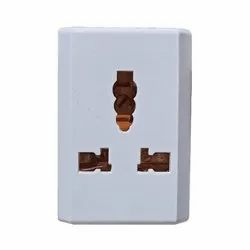 White Generic Multiplug Adaptor (Light To Power), For Electric Fittings, Urea