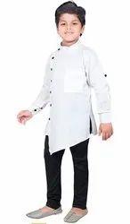 Poco Kids Casual Wear Baby Boys Kid's Kurta With Pyjama, Size: 1 Year To 10 Year