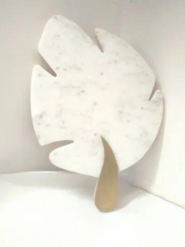 Marble Brass Leaf Platter