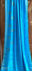 Thread Weaving Linen Sarees