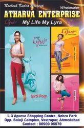 Plain 180 colour Lux Lyra Ankle Length Leggings, Size: Free Size
