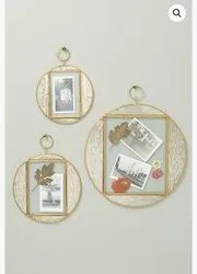 Iron Or Brass Round Wall Mirrors, Packaging Type: Box