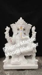 Antique Marble Ganesh Statue
