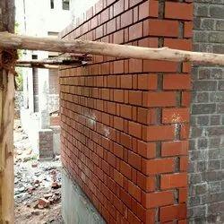 Rectangular Exposed Red Bricks, Size: 9x4x3