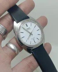 Men Round Hmt kohinoor mechanical hand Winding Wrist Watch, For Formal