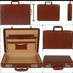 Briecase Style Brown Leather Briefcase Bag