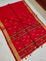 Cotton Silk Handloom Weaving Saree