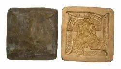 Cream Swastik Ganeshji Frame Mould, For Decoration, Size: 9