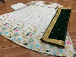 Tashi Anarkali Designer Kurti, Size: Xxl free size, Wash Care: Dry clean