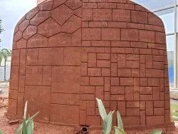 Tile Brown Laterite Wall Stone Block, Thickness: 5 Inches
