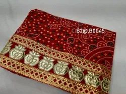 Pure Cotton Zari Taar Full Size Open Chunri