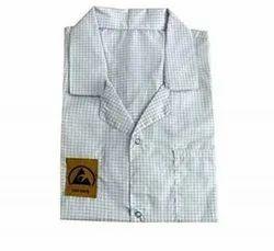 White Anti Static lab coat/Apron full sleeve, Handwash