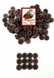 Brown Plastic Wooden Shirt Button, Packaging Type: Packet