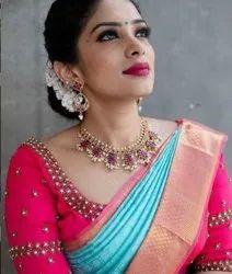 Designer Silk Saree With Beautiful Blouse