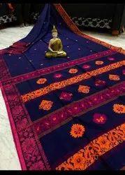 Mercerised Cotton handweived Jamdani Saree