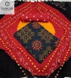 Yadgar Enterprise Multicolor Bandhani Dress Material, For Party Wear