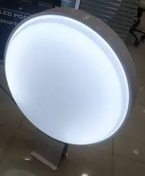 Lollipop Acrylic LED Sign Board, For Advertisement