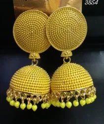 Round Modern Jhumki Earrings