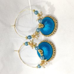 Excellentcrafts Acrylic Silk Thread Earring And Jhumkas, Shape: Round, Size: Six Sizes