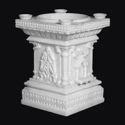White Marble Tulsi Pot