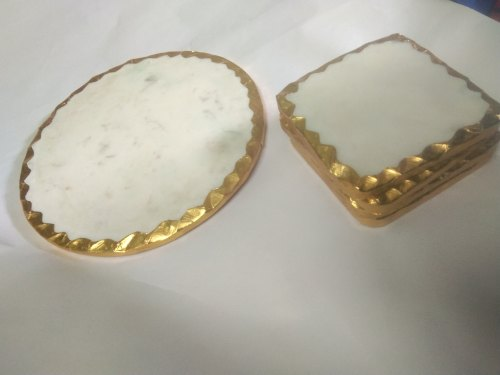 Marble Coasters And Platter