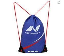Blue Drawstring Bag, String Bag, Satin Bags, Travel Bags