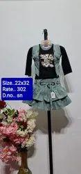 SN Black Kids Skirt Top