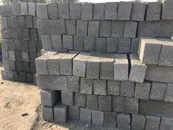 Solid Rectangular Cement Block, Size: 16inx8inx6in