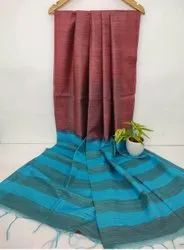 Dual Shaded Jute Organza Saree