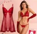Babydolls Embroidered Nighty Lace