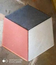 Concrete Multicolor 3d Tiles pavers, Thickness: 60 mm, Size: Medium