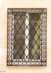 Iron Ms Window Grill, For Wall Windows, Rectangle