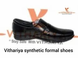 Men Black Vithariya Formal Shoes, Size: 7-10