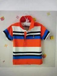 Striped Cotton Kids T Shirt