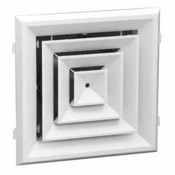 Powder Coated Aluminum Square Ceiling Diffuser, For Commercial, Linear