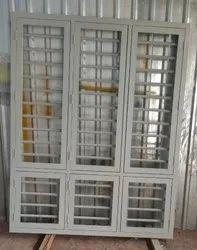 Hexagonical Yellow Galvanized Metal Window Frame